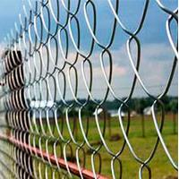 Забор из сетки рабицы натяжной на 2 прожилинах