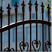 Сварной металлический забор секционный