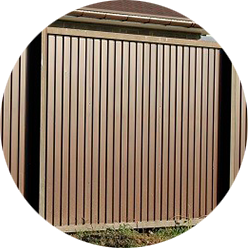 Забор из профлиста вертикальный столбы с лицевой стороны