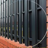 Забор из ЕВРОштакетника (металлический штакетник (профлист)